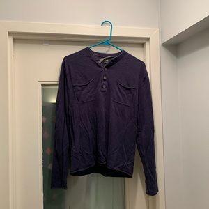 Men's Michael Kors navy Henley shirt size small
